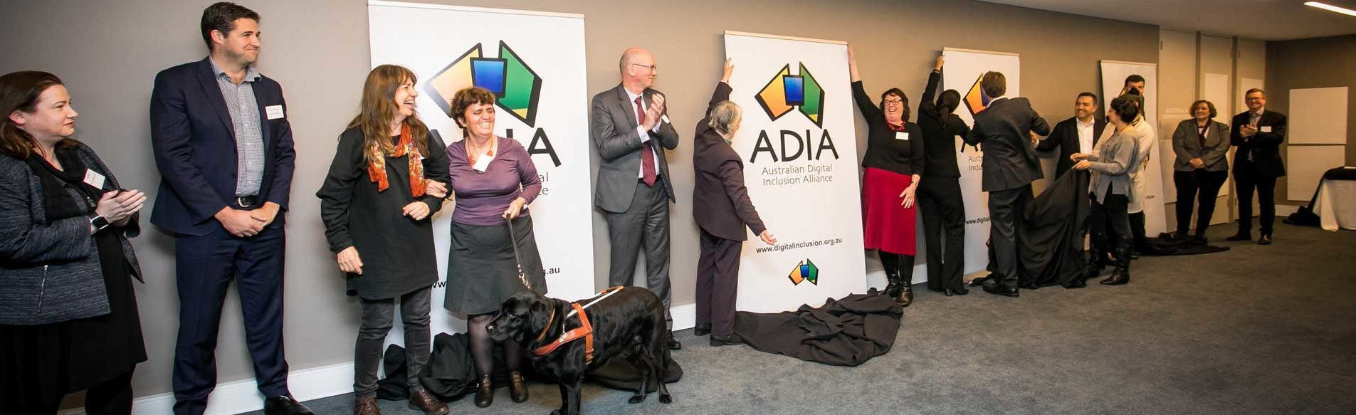 Australian Digital Inclusion Alliance - People at the launch of the ADIA in 2017